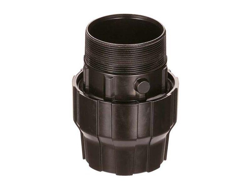 Aluminiowe złącze do rur fi 32 mm z GZ 1 1/4