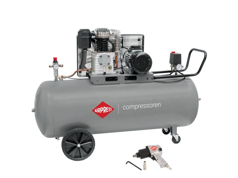 Kompresor HK 425-200 10 bar 3 KM/2.2 kW 280 l/min 200 l z kluczem udarowym 1/2