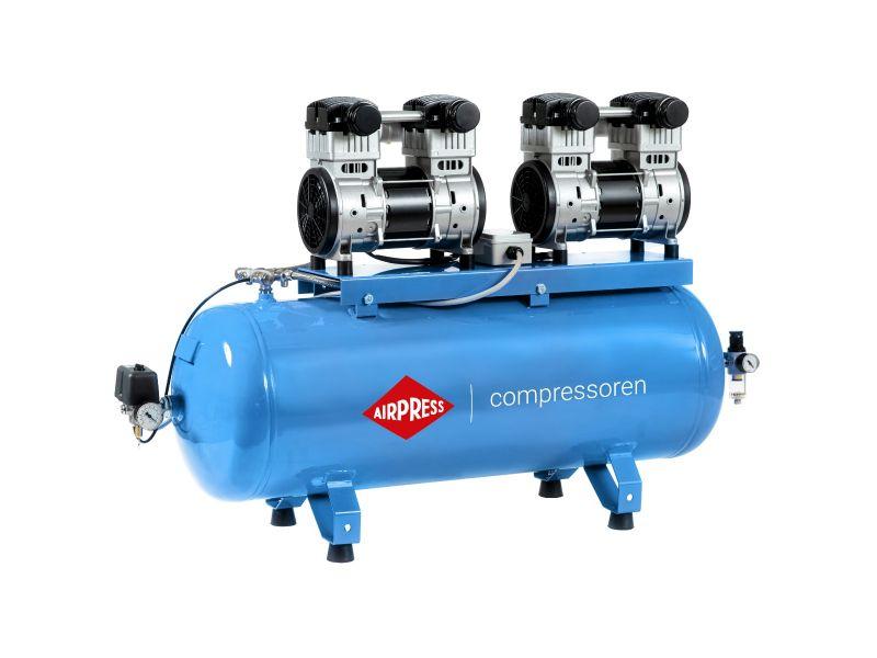 Kompresor bezolejowy LMO 196X2-100 Silent 8 bar 3.2 KM/1.5 kW 240 l/min 100 l