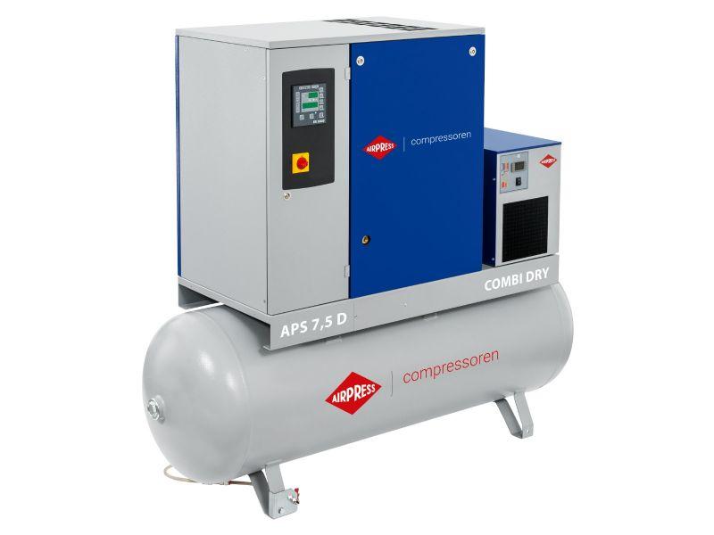 Kompresor śrubowy APS 7.5D Combi Dry 10 bar 7.5 KM/5.5 kW 670 l/min 500 l