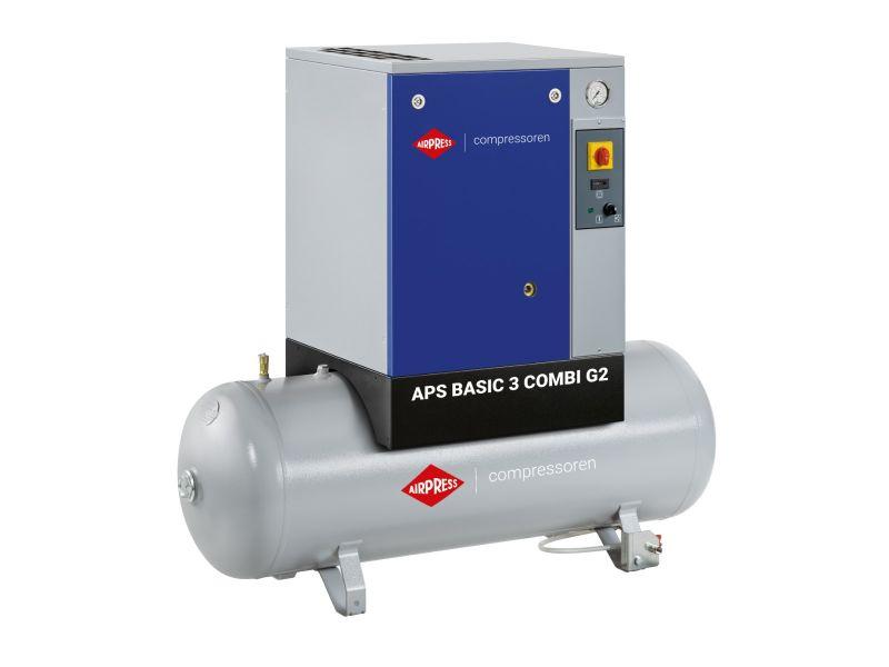 Kompresor śrubowy APS 3 Basic G2 Combi 10 bar 3 KM/2.2 kW 294 l/min 200 l