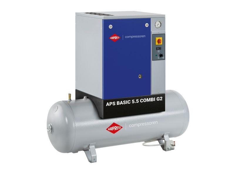 Kompresor śrubowy APS 5.5 Basic G2 Combi 10 bar 5.5 KM/4 kW 516 l/min 200 l