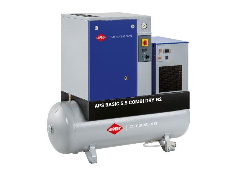 Kompresor śrubowy APS 5.5 Basic G2 Combi Dry 10 bar 5.5 KM/4 kW 516 l/min 200 l