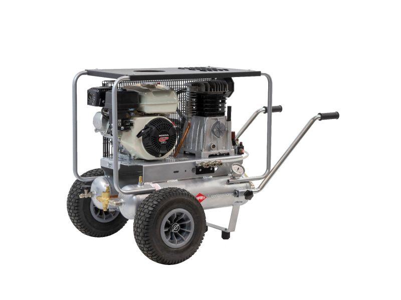 Kompresor tłokowy spalinowy BM11+11/330 Airpress (HONDA GX) 10 bar 5.5 KM/4 kW 330 l/min 2 x 11 l