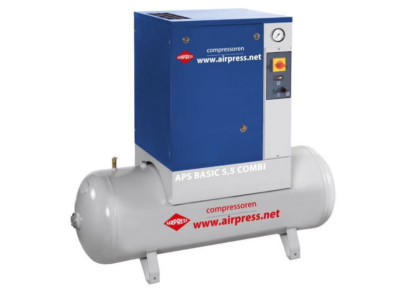 Kompresor śrubowy APS 5.5 Basic Combi 10 bar 5.5 KM 470 l/min 200 l
