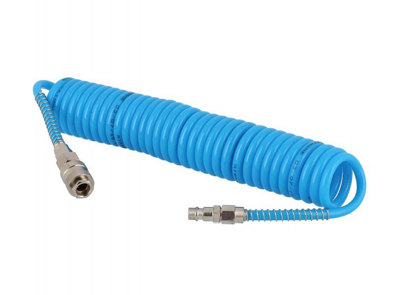 Wąż pneumatyczny spiralny PU uzbrojony 5 m fi 8 x 5 mm