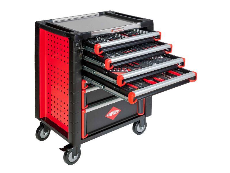 Profesjonalny wózek narzędziowy 217 elementów 7 szuflad