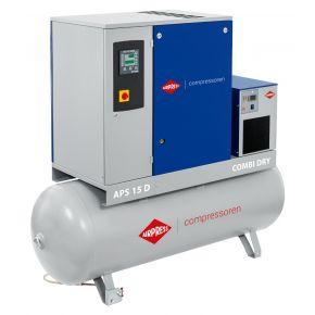 Kompresor śrubowy APS 15D Combi Dry 8 bar 15 KM/11 kW 1665 l/min 500 l