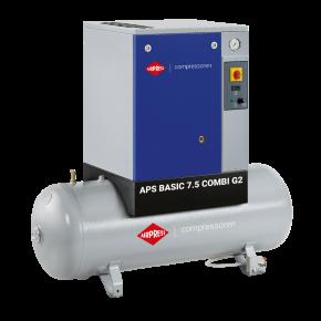 Kompresor śrubowy APS 7.5 Basic G2 Combi 10 bar 7.5 KM/5.5 kW 780 l/min 200 l