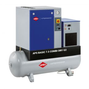 Kompresor śrubowy APS 7.5 Basic G2 Combi Dry 10 bar 7.5 KM/5.5 kW 780 l/min 200 l