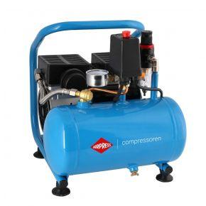Kompresor bezolejowy L 6-95 Silent (cichy) o ciśnieniu maksymalnym 8 bar i mocy 0.6 KM