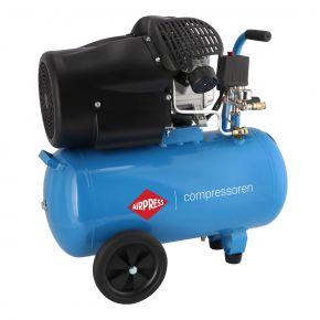 Kompresor tłokowy Airpress HL 425-50 o ciśnieniu maksymalnym 8 bar i mocy 3KM. Wydajność 317 l/min