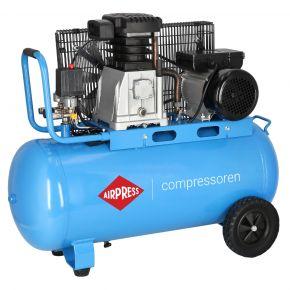 Kompresor tłokowy Airpress HL 340-90 o ciśnieniu maksymalnym 10 bar i mocy 3KM