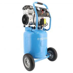 Kompresor wyciszany bezolejowy LMVO 40-250 8 bar 2 KM/1.5 kW 150 l/min 38 l + zestaw 5 akcesoriów pneumatycznych
