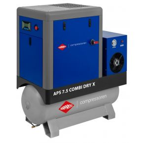 Kompresor śrubowy APS 7.5 Combi Dry X 10 bar 7.5 KM/5.5 kW 690 l/min 200 l