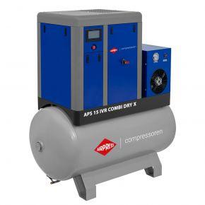 Kompresor śrubowy APS 15 IVR Combi Dry X 10 bar 15 KM/11 kW 380-1410 l/min 500 l