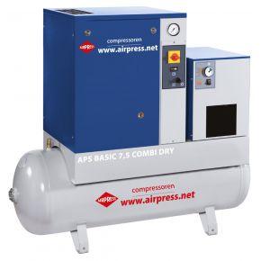 Kompresor śrubowy APS 7.5 Basic Combi Dry 10 bar 7.5 KM 600 l/min 200 l