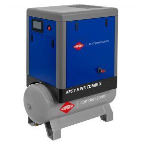 Kompresor śrubowy APS 7.5 IVR Combi X 10 bar 7.5 KM/5.5 kW 170-690 l/min 200 l