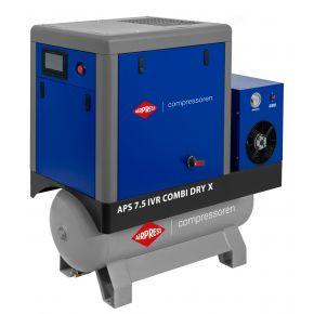 Kompresor śrubowy APS 7.5 IVR Combi Dry X 10 bar 7.5 KM/5.5 kW 170-690 l/min 200 l