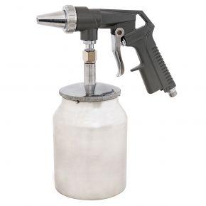 Pistolet do piaskowania ze zbiornikiem