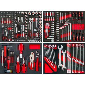 Komplet narzędzi do wózka narzędziowego 79156