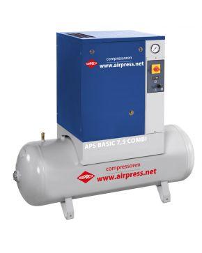 Kompresor śrubowy APS 7.5 Basic Combi 10 bar 7.5 KM 600 l/min 200 l