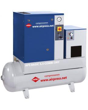 Kompresor śrubowy APS 5.5 Basic Combi Dry 10 bar 5.5 KM 470 l/min 200 l