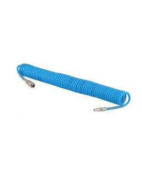 Wąż pneumatyczny spiralny PU uzbrojony 10 m fi 8 x 5 mm