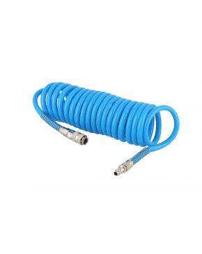 Wąż pneumatyczny spiralny PU uzbrojony 5 m fi 12 x 8 mm