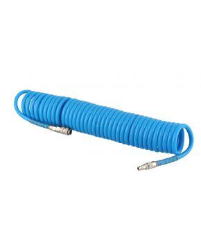 Wąż pneumatyczny spiralny PU uzbrojony 15 m fi 12 x 8 mm