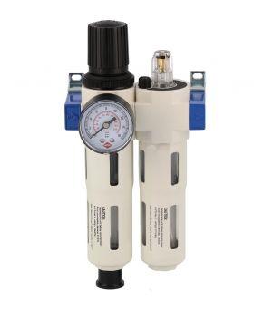 """Profesjonalny filtr powietrza z reduktorem i naoliwiacz 3/8"""" 15 bar"""