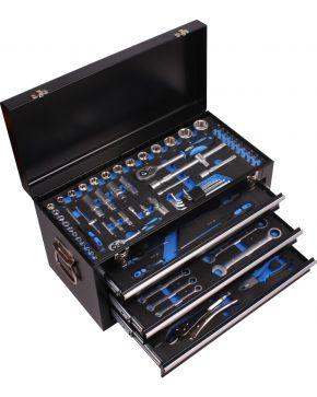 Profesjonalny zestaw narzędzi w aluminiowej walizce 97 elementów