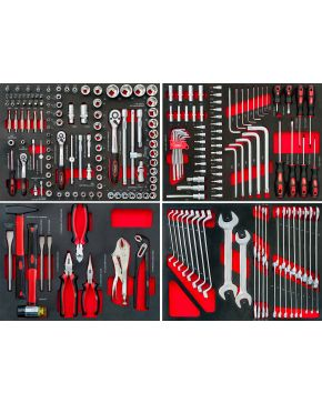 Komplet narzędzi do wózna narzędziowego 79156