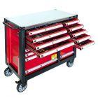 Profesjonalny wózek narzędziowy 447 elementów 16 szuflad