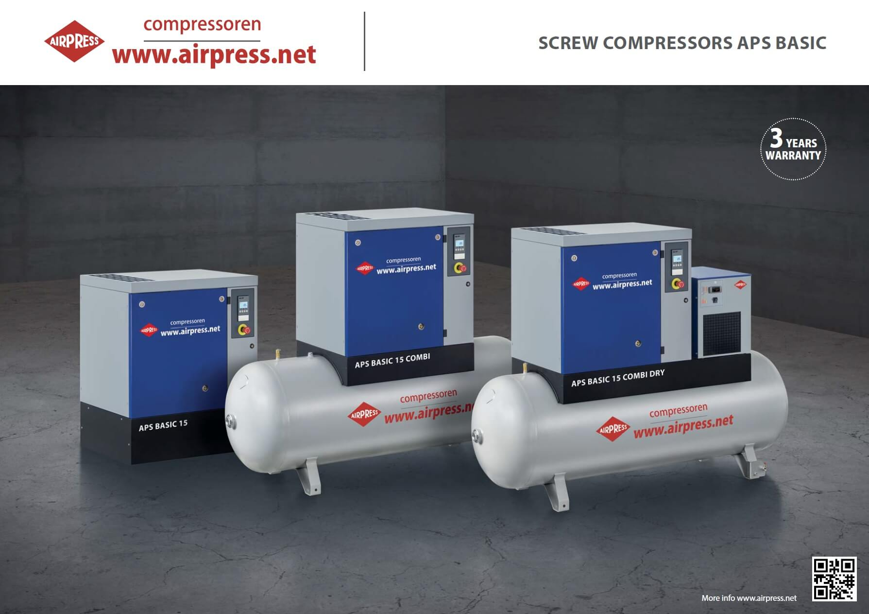 Kompresory śrubowe APS BASIC