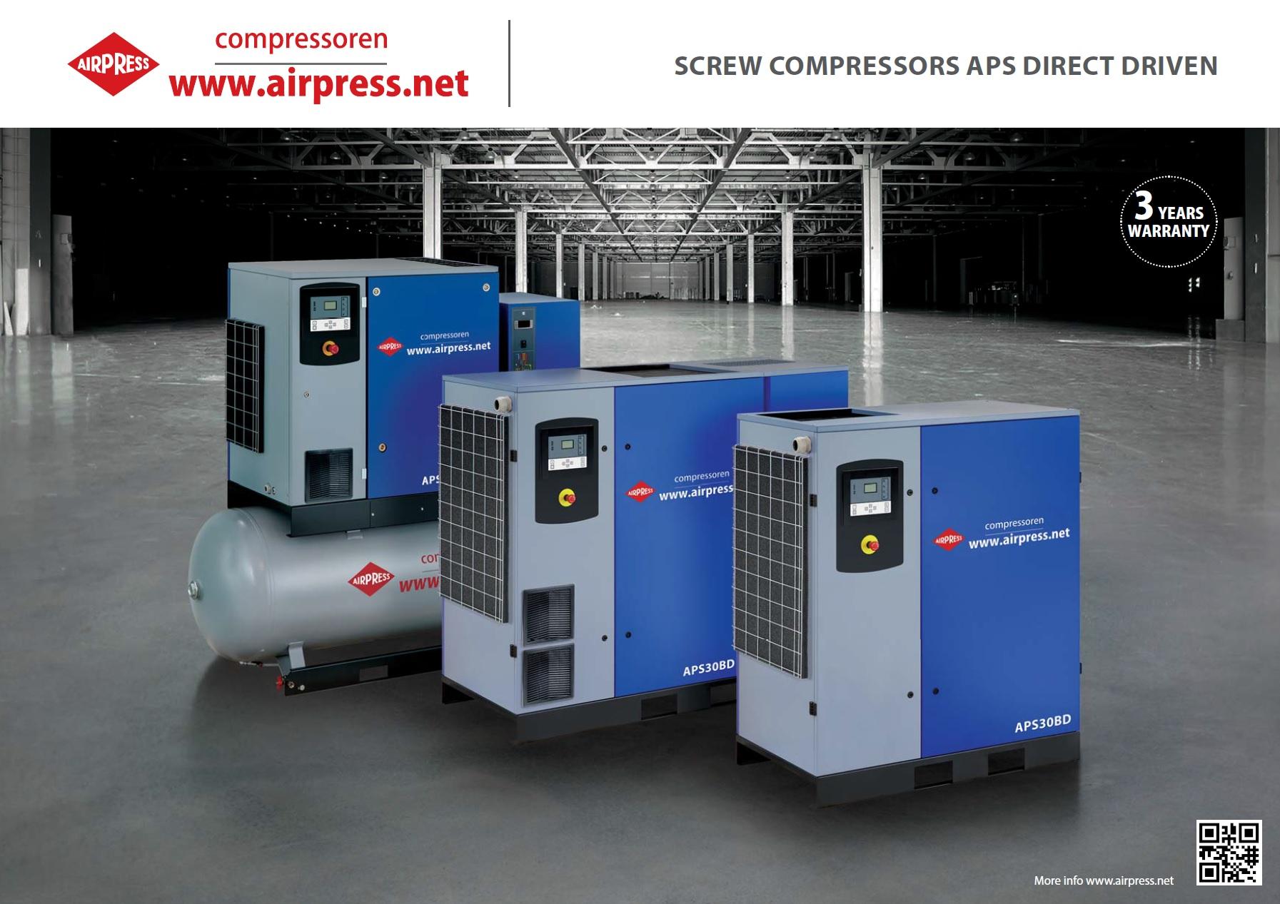 Kompresory śrubowe APS DIRECT DRIVEN