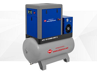 Kompresor śrubowy serii APS X 10 Combi Dry