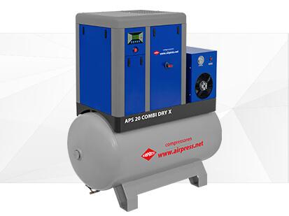 Kompresor śrubowy serii APS X 20 Combi Dry