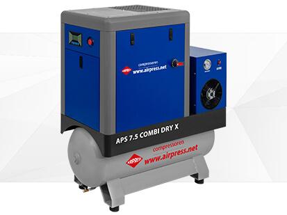 Kompresor śrubowy serii APS X 7-5 Combi Dry