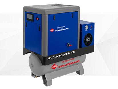Kompresor śrubowy serii APS X 7-5 IVR Combi Dry